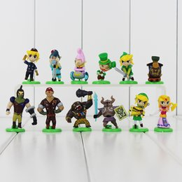 Legend Zelda Figures UK - The Legend of Zelda 12PCS SET Genuine Japan Anime High-quality PVC Action figure toy Child's Birthday Gift Free shipping EMS