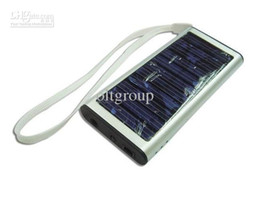 Mobile Power Cell Phone Australia - Wholesale 5 pcs lot Solar Battery Panel USB Charger, mobile phone solar charger Ports portable power bank for All Cell Phone table
