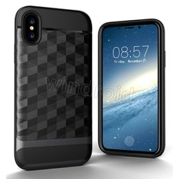 Black diamonds for cheap online shopping - High quality Armor Antiskid Wire Drawing Diamond Mirror Smart Cover TPU Case in For Iphone X i8 S Plus Note S7 Edge cheap