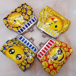 Discount paisley gifts - Kids emjio wallet emojis face cartoon children change pocket kids coin purse girl handbag Birthday gift for children