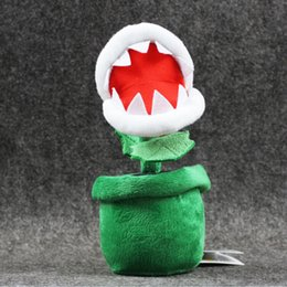 Discount mario free stuff toys - 20cm Super Mario Piranha with Flower Pot Plush Soft Stuffed Doll Toy for kids gift free shipping EMS
