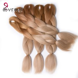 Chinese  free shipping High Temperature Fiber expression braiding hair 100g pcs ombre Two Tone synthetic braiding hair Extensions manufacturers