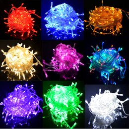 Discount christmas lights strings 2018 outdoor christmas lights discount christmas lights strings holiday outdoor 100 led string lights 10m 220v 110v christmas xmas wedding aloadofball Images