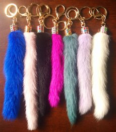 $enCountryForm.capitalKeyWord NZ - The Korean version of mobile phone lanyards decorative ornaments bag imitation fur imitation fox tail plush car key pendant
