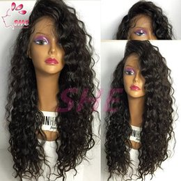 Cheap deep wave virgin half wigs online shopping - Top A Grade Best Full density BrazilianThick Human Hair Wig Full Lace Wig Cheap Human Hair Lace Front Wig Glueless Wig