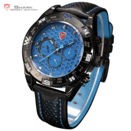 $enCountryForm.capitalKeyWord Canada - Shortfin Shark Sport Watch Blue Dial Relogio Analog Calendar Quartz Movement Men Quartz Tag Men Genuine Leather Wristwatch SH155