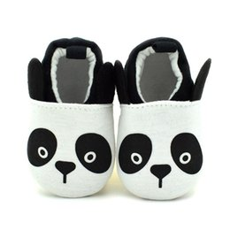 2016 New Baby Walking Shoes Cute Panda Cartoon Breathable Cotton Fabric Slip On Anti Slip Soft Sole Affixed To Foot