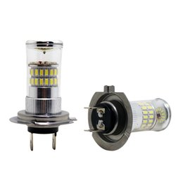 2pcs 12V DC Car Superb Bright White H7 48SMD 3014 Fog LED Lights Bulb Lamp #4670 on Sale