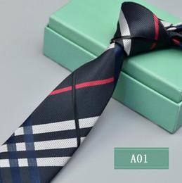Toptan satış Erkek Aksesuarları Erkekler için Ekose Polyester Bağları Marka Boyunbağı İş Sıska Damatlar Kravat Düğün Parti için Suit Gömlek