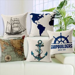 $enCountryForm.capitalKeyWord Canada - ocean ship cushion cover marine decoration cojines vintage anchor throw pillow case world map sofa almofada