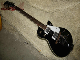 guitar custom shop black Australia - New Arrival Custom Shop Black Electric Guitar With tremolo system High Quality