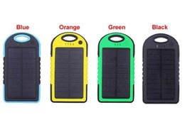 outdoor solar panels Canada - Sufficient capacity Portable Solar Charger Power Bank Panel 5000mah For Moblie Phone CellPhone Smartphone 2 USB Ports Waterproof Outdoor