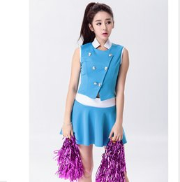 Lycée Sexy Pas Cher-Wholesale-Glee Style Sexy High School Cheerleader Costume Cheer Girls Uniform Costume Party Outfit