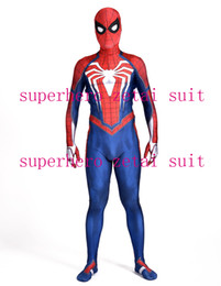 Costume Spandex Movie NZ - NEW PS4 INSOMNIAC SPIDERMAN SUIT 3D Print Spandex Games Spidey Cosplay Suit Halloween Cosplay Spider-man Costume For Adult Kid Free Shipping