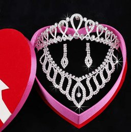 Wholesale Bridal crowns necklace Headbands Hair Bands Headpieces Bridal tiaras Wedding Jewelries Accessories Silver Crystals Rhinestone Pearls HT0146