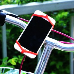 Smartphone Bike Mount Canada - Elastic Silicone Rubber Band Bike Phone Mount Holder for iPhone 6 Plus 6S and All Smartphone