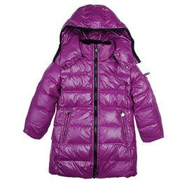 Retail Boys Jackets UK - 5 Colors Brand Winter Down Coat Warm Kids Hooded Long Jackets for Boys Girls Clothes Retail Outerwear Children Fashion Sale