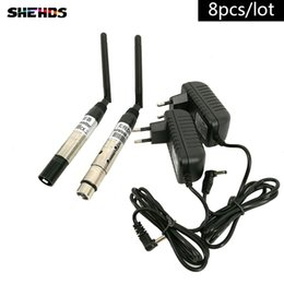 Wholesale 8pcs DMX512 DMX Dfi DJ Wireless system Receiver or Transmitter G for LED Light Stage Light m Control