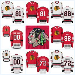 393ee5d04 Youth Kids Chicago Blackhawks Jerseys 81 Marian Hossa 88 Patrick Kane 72  Artemi Panarin 42 Gustav Forsling Custom Hockey Jersey Mix Order