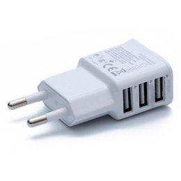 2A 3 puertos USB adaptador de cargador de pared de la UE 3USB para Samsung para iPhone perfecto en venta