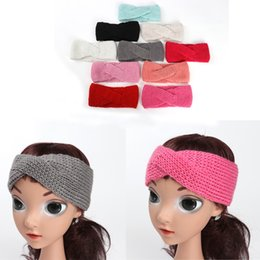 Bandes Larges Pour Les Filles Pas Cher-Baby Girls Headbands Tricoté Wide Hair Band Toddler Kids Photographie Supports Head Wrap Accessoires Hairbands 10 Couleurs