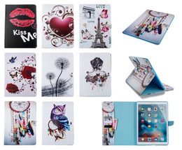 Beautiful girl case online shopping - Colorful Beautiful girl owl tower PU Leather Case For iPad Mini Air2 Samsung Galaxy Tab S T110 T560 T550 T230
