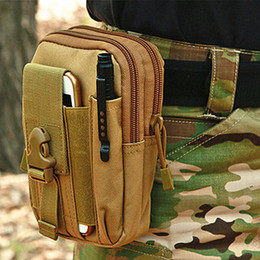Rugby iphone case online shopping - High quality Outdoor Tactical Holster Military Waist Belt Bag Wallet Pouch Purse Phone Case with Zipper for iPhone Samsung LG HT