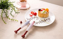 Syringe cake online shopping - DIY your love cake shaped food grade silicone cake dessert decorators Cake decoration tools Cute pastry cream chocolate decorating syringe