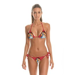 Princess Cartoon Sexy Pas Cher-Maillot de bain le plus récent Hot Summer Sexy Bikini Mode Maillot de bain Sexy Cartoon imprimé princesse Impression soutien-gorge et bas Biquini Bikinis Set