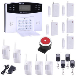 Gsm Door Alarm NZ - GSM SMS Home Burglar Security Alarm System Detector Sensor Kit Remote Control