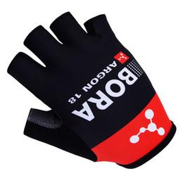 6abc57634 Hot Sale 2015 BORA ARGON 18 PRO TEAM BLACK RED Cycling Bike Gloves Bicycle  Gel Shockproof Sports Half Finger Glove