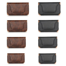 holster clips 2019 - Horizontal Hip Protective Covers Holster Leather Clip Case Buckle Rhinoceros Pattern Belt Pouch For Iphone 7 Plus 6 6S 5