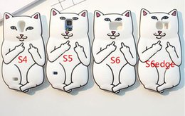 Discount samsung galaxy s6 edge case gel - 3D Ripndipp Pocket Cat Middle Finger Soft Silicone GEL Case For Samsung Galaxy S4 S5 S6 S7 EDGE A5 E5 J1 ACE J2 NOTE 4 5