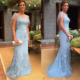 Discount brides mom silver dress - Latest Mermaid Mother of the Bride Dresses Appliques Tulle Formal Mother Evening Dresses Gowns Mom Dresses