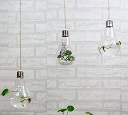 $enCountryForm.capitalKeyWord NZ - Clear hanging bulb vases Succulent air plant bulb terrarium light bulb shape glass planter for Christmas Ornaments wedding home decor