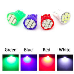 $enCountryForm.capitalKeyWord Canada - T10 Auto led car Indicator lighting wedge high bright Factory bulb 8LED SMD 3020 1206 168 192 W5W white green red blue