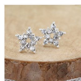 $enCountryForm.capitalKeyWord Canada - hot sale earrings natural crystal wholesale fashion small jewelry for women crown stud earrings free shipping