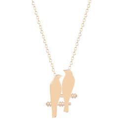$enCountryForm.capitalKeyWord Canada - 10pcs lot New Style Love Bird Necklace Simple Gold Bird necklace women Boho Chic Love Bird Necklace Jewelry Collier Free Shipping