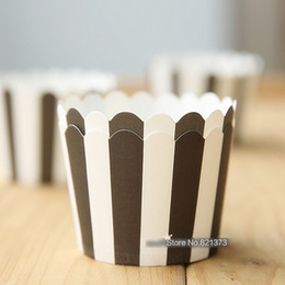 mini cupcake favors Australia - Free Shipping black white zebra stripes cupcake liners cups cases, paper cake mini baking cup decorative wedding party favors