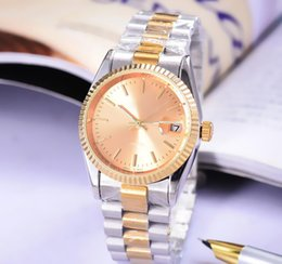 2018 pearl watch men relogio Luxury Brand Gold President Day-Date Diamonds Watch Men Stainless Mother of Pearl Dial Diamond Bezel Automatic WristWatch discount pearl watch men