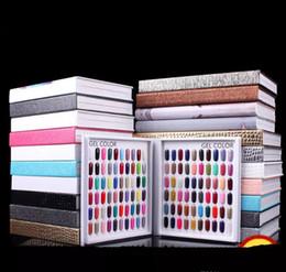 Toptan satış Profesyonel Model 216 Renkler Tırnak Jel Lehçe Renk Ekran Kartı Kitap Adanmış Kart Grafiği Nail Art Araçları ile 226 Yanlış Tırnak