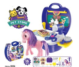 pet stores NZ - Children simulation Pet Store tableware dresser cash register tool doctor suitcase toy set Christmas Gifts for children