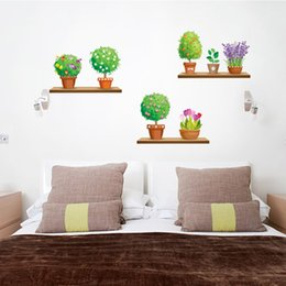 Plant Wall Decal Sticker Home Decor DIY Removable Art Vinyl Mural For Kitchen Dining Living Room Cabinet QTB205