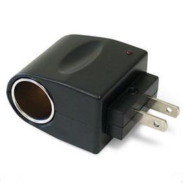 Venta al por mayor de 110V - 240V CA enchufe a 12V DC Coche de cigarrillo Convertidor de encendedor Adaptador de zócalo