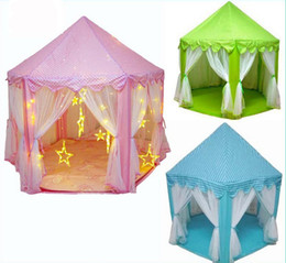 kids big tent house Canada - Kids Play Tents Prince and Princess Party Tent Children Indoor Outdoor tent Game House Three Colors for Choose