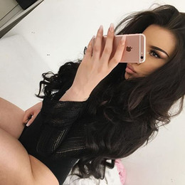 26 Inch Full Lace Canada - Malaysian Human Hair Lace Front Wig Malaysian Body Wave Glueless Full Lace Human Hair Wigs 10-26 Inches For Black Women