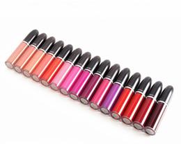 2016 Nova Maquiagem Retro Fosco Líquido Lip Color Waterproof Esmalte Lipgloss 15 Cores Diferentes Com Nome Inglês (15 Pçs / lote)