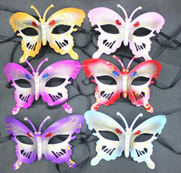Wholesale New Butterfly Party Masks Drill Mask Party Show Mask Butterfly Wing Set Butterfly Wing Headband Fairy Bar Party Mask Supplies