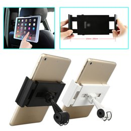 Wholesale Black amp White Car Back Seat Headrest Mount Holder For iPad for SAMSUNG tab Tablet PC Stands Hot Sale