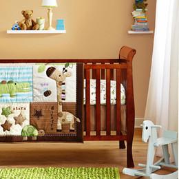 $enCountryForm.capitalKeyWord Canada - Promotion! 6PCS Baby Bedding Set Baby cradle crib cot bedding set cunas crib Quilt,include(bumper+duvet+bed cover)
